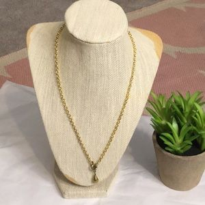 Gold tone Tear top toggle necklace